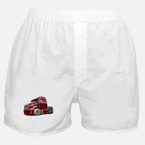 Peterbilt 587 Maroon Truck Boxer Shorts