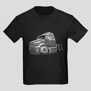 Peterbilt 587 Grey Truck Kids Dark T-Shirt