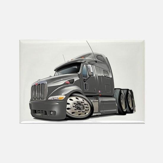 Peterbilt 587 Grey Truck Rectangle Magnet