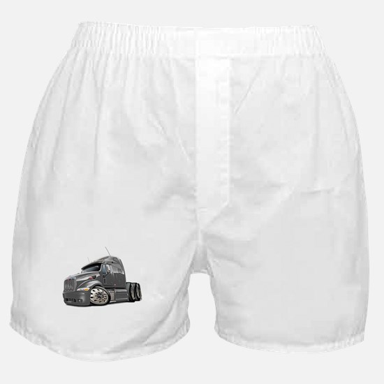 Peterbilt 587 Grey Truck Boxer Shorts