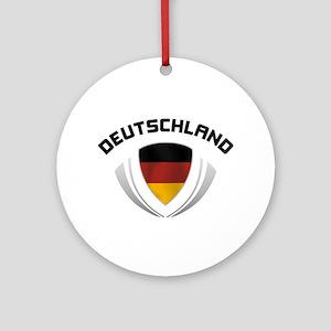 Soccer Crest DEUTSCHLAND Ornament (Round)