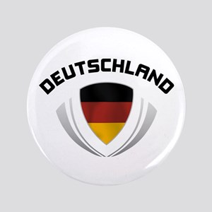 """Soccer Crest DEUTSCHLAND 3.5"""" Button"""