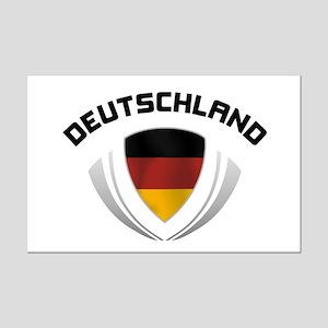 Soccer Crest DEUTSCHLAND Mini Poster Print