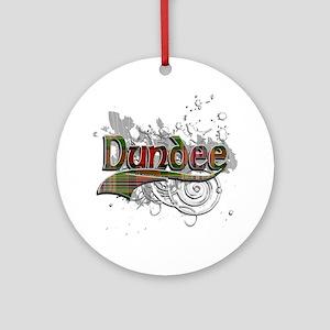 Dundee Tartan Grunge Ornament (Round)