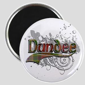 Dundee Tartan Grunge Magnet
