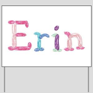Erin Princess Balloons Yard Sign