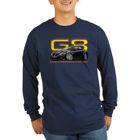 Black Pontiac G8 Long Sleeve Dark T-Shirt