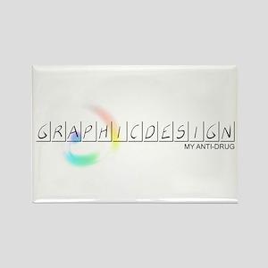 Graphic Design - Anti Drug Rectangle Magnet