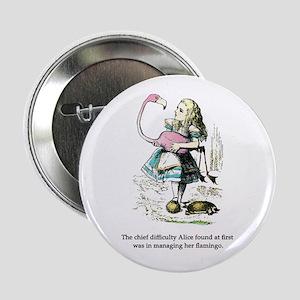 """Alice in Wonderland 2.25"""" Button"""