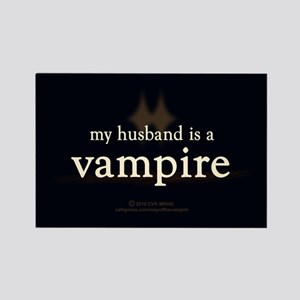 Husband Vampire Rectangle Magnet