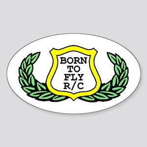 """""""Born to Fly R/C"""" Oval Sticker"""
