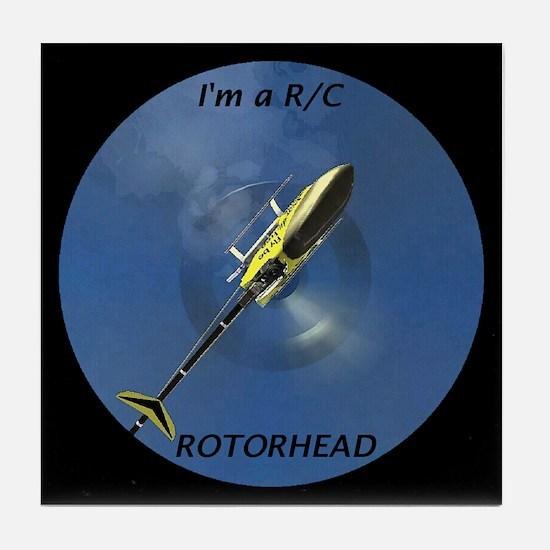 """""""R/C Rotorhead"""" - Tile Coaster"""