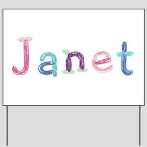Janet Princess Balloons Yard Sign