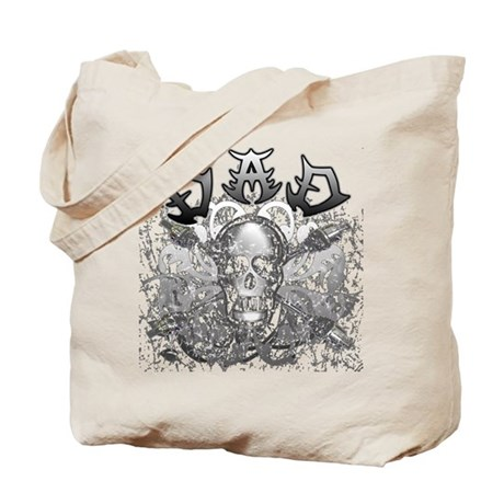 Grunge with Skull Dad's Day Tote Bag