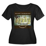 Ukyabít Women's Plus Size Scoop Neck Dark T-Shirt