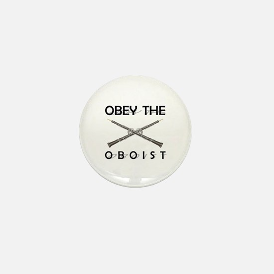 Obey the Oboist Mini Button