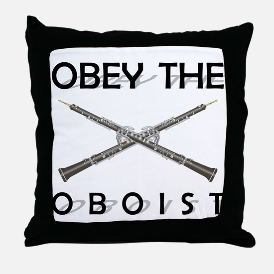 Obey the Oboist Throw Pillow