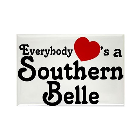 Everybody Hearts a Southern B Rectangle Magnet