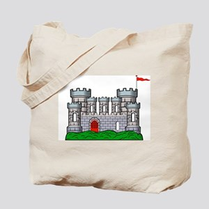 Fantasy medieval castle Tote Bag