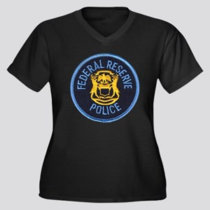 Federal Reserve Police Women's Plus Size V-Neck Da