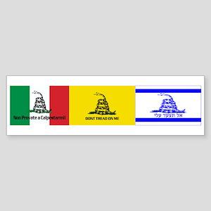 Dont Tread on Me International Sticker (Bumper)
