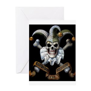 Death jesters greeting cards cafepress m4hsunfo