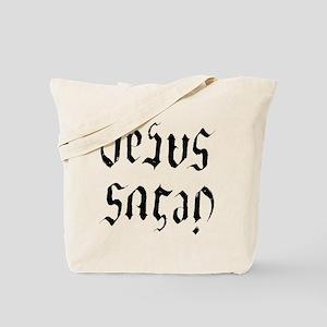 Jesus Satan spooky Ambitgram Tote Bag