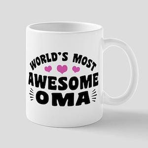 World's Most awesome Oma 11 oz Ceramic Mug