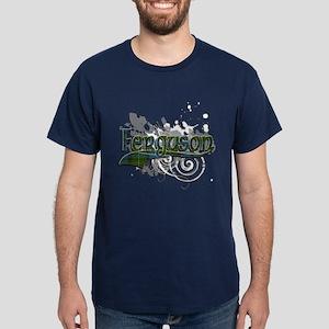 Ferguson Tartan Grunge Dark T-Shirt