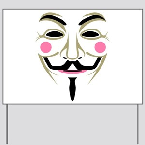 Guy Fawkes Mask Yard Sign