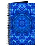 Journal Sacred Blue Ray Flower Geometry
