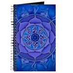 Journal Sacred Blue Petal Geometry