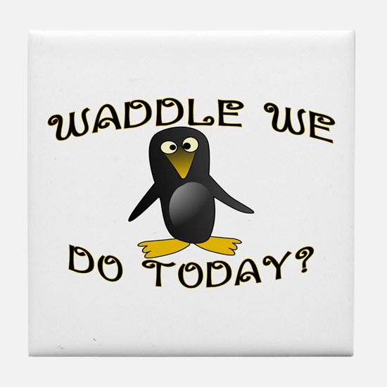Waddle We Do Tile Coaster