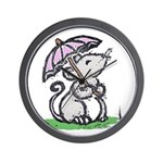 Umbrella Mouse (by Kir) Wall Clock