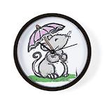 Umbrella Mouse (by Kir) Wall Clock