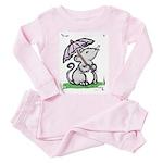 Umbrella Mouse (by Kir) Toddler Pink Pajamas