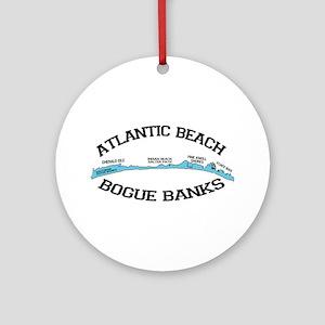 Atlantic Beach NC - Map Design Ornament (Round)