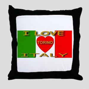 I Love Torino Italy Throw Pillow