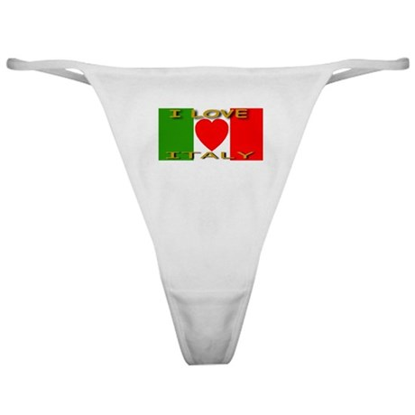 I Love Italy Heart Flag Classic Thong