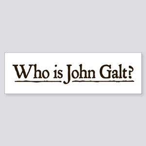 Who is John Galt? Sticker (Bumper)