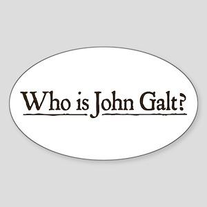 Who is John Galt? Sticker (Oval)
