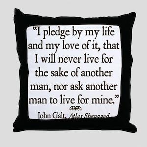 Galt Pledge Throw Pillow