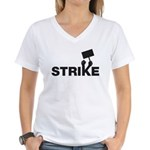 Strike w/sign Women's V-Neck T-Shirt