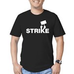 Strike w/sign Men's Fitted T-Shirt (dark)