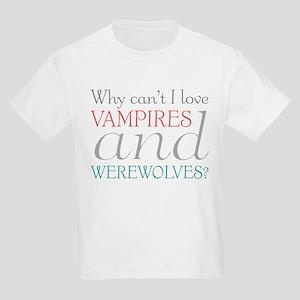 Vampires and Werewolves Kids Light T-Shirt