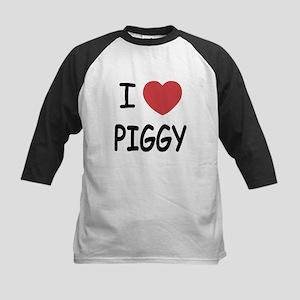 I heart Piggy Kids Baseball Jersey