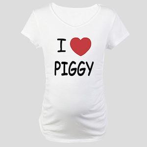 I heart Piggy Maternity T-Shirt
