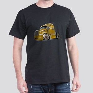 Peterbilt 587 Gold Truck Dark T-Shirt