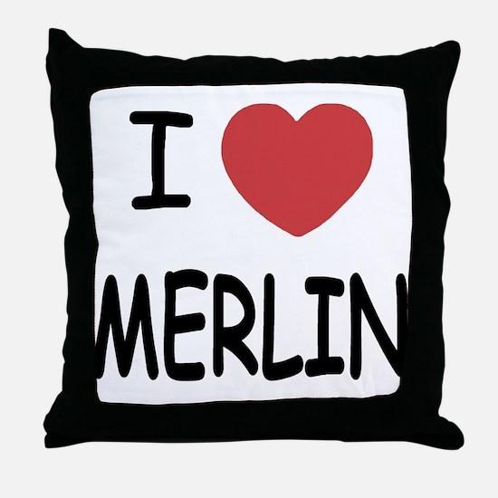 I heart Merlin Throw Pillow