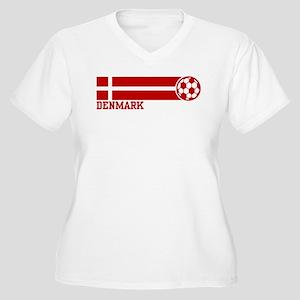 Denmark Soccer Women's Plus Size V-Neck T-Shirt